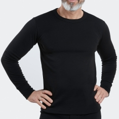 Maillot de corps Homme manches longues col rond