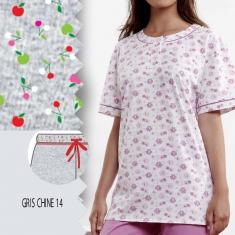 Pyjashort Manches Courtes imprimé Naif