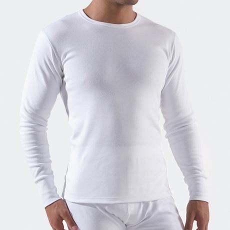 Maillot de corps Homme Manches Longues Blanc 00